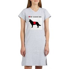 I love my search dog border col Women's Nightshirt