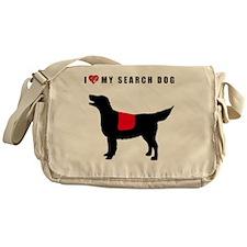 I love my search dog Flat Coated Ret Messenger Bag