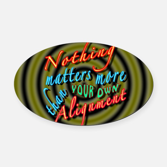 Alignment-30B2 Oval Car Magnet