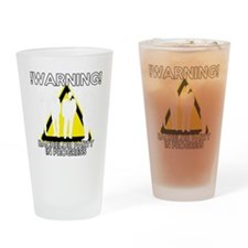 Funny Bachelors Party warning Drinking Glass