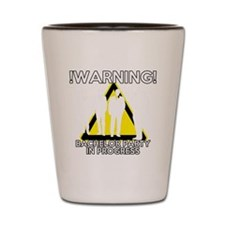 Funny Bachelors Party warning Shot Glass