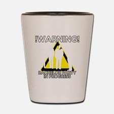 Funny Bachelors Party warning Shot Glass