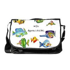 8 Cartoon fish appreciOCEAN Messenger Bag