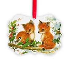 Baby Foxes Ornament