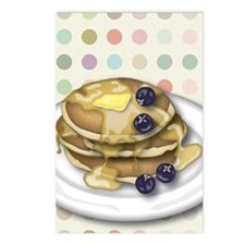 Pancakes With Syrup And B Postcards (Package of 8)