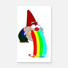 Garden Gnome Vomit Rectangle Car Magnet