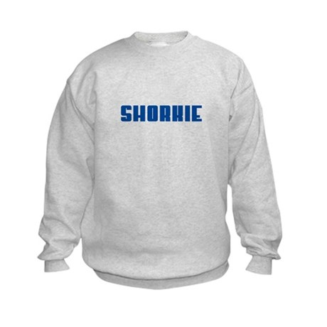 Groovy Blue Shorkie Kids Sweatshirt