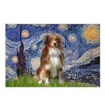 Starry-Aussie Shep #4 Postcards (Package of 8)