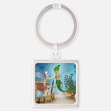 Little Mermaid 4 Square Keychain