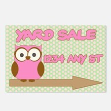 Owl with polka dot yard s Postcards (Package of 8)