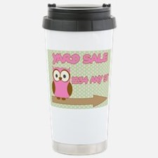 Owl with polka dot yard Travel Mug