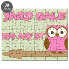 Owl with polka dot yard sale sign Puzzle