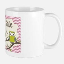 Green Owl with Pink Chevron yard sale s Mug
