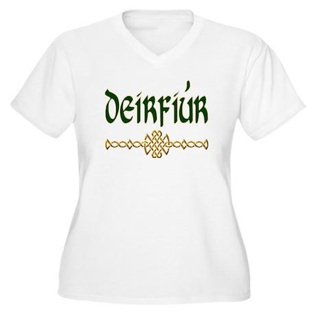 Sister (Gaelic) Plus Size V-Neck T-Shirt