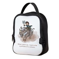 Princess On A Unicorn (Grow Up) Neoprene Lunch Bag