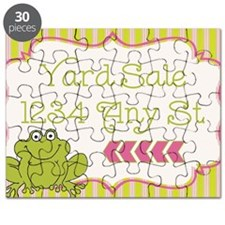 Frog Yard Sale Sign Puzzle