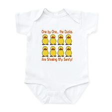 Ducks Stealing My Sanity Infant Bodysuit