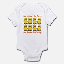Ducks Stealing My Sanity Infant Bodysuit
