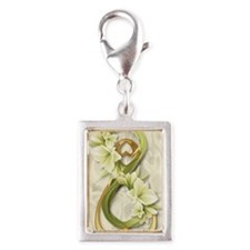 Double Infinity Gold With Co Silver Portrait Charm