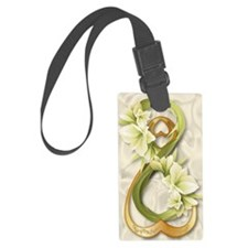 Double Infinity Gold With Cowlil Luggage Tag