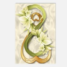 Double Infinity Gold With Postcards (Package of 8)