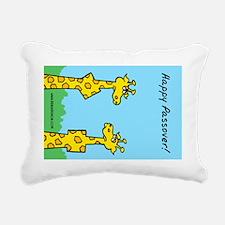 Giraffes Passover Rectangular Canvas Pillow