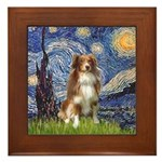 Starry-Aussie Shep #4 Framed Tile