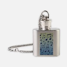 Music notes Flask Necklace