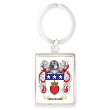 Douglas Coat of Arms Portrait Keychain