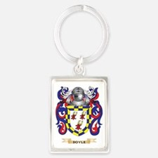 Doyle Coat of Arms Portrait Keychain