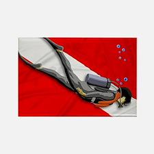 Dive Flag Rectangle Magnet