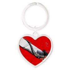 Dive Flag Heart Keychain