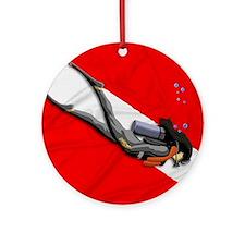 Dive Flag Round Ornament