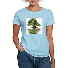 Ficus bonsai with water refl T-Shirt
