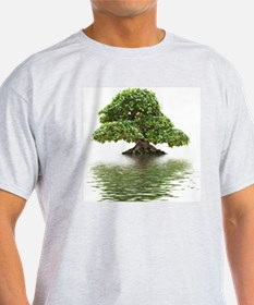Ficus bonsai with water reflection T-Shirt