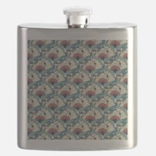 Oriental Fans and Cranes Flask