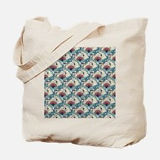 Oriental Fans and Cranes Tote Bag