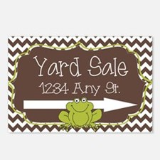 Frog with chevron yard sa Postcards (Package of 8)