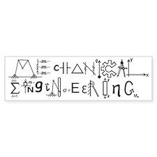 Mechanical Engineering Bumper Sticker