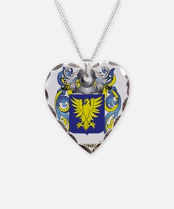 Dunn Coat of Arms Necklace Heart Charm