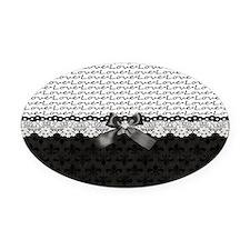 Royal Love  Oval Car Magnet