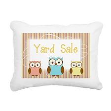 Striped Owl Yard Sale Si Rectangular Canvas Pillow