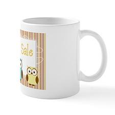 Striped Owl Yard Sale Sign Mug