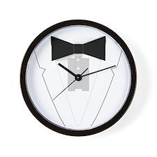 Funny Black Tie Tuxedo Wall Clock