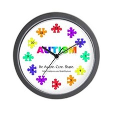 Autism Puzzle Piece Wall Clock