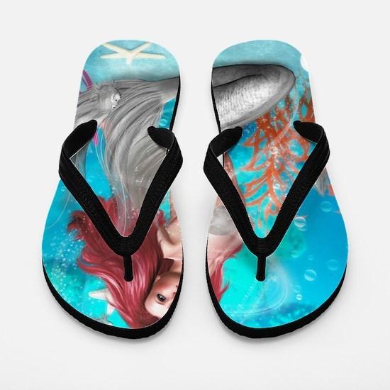 Magic Mermaid Flip Flops