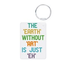 The Earth Without Art Aluminum Photo Keychain