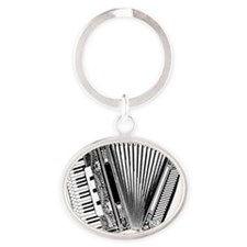Accordian Dark Oval Keychain