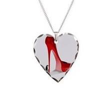 Giant Red Stiletto Art Necklace
