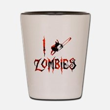 i chainsaw zombies dark Shot Glass